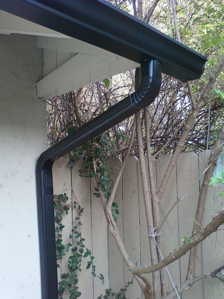 Black Aluminium Gutter and Downspout