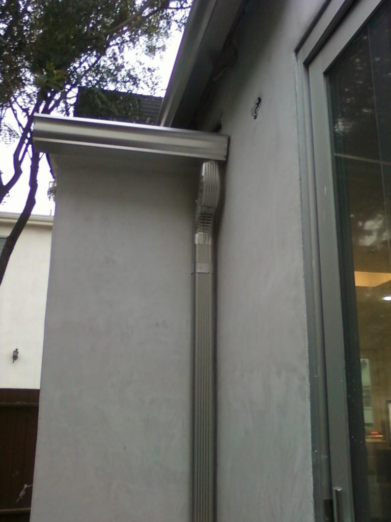 Aluminium Finish Downspout